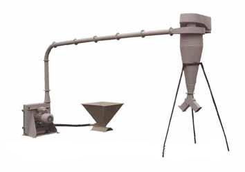 Дробилка зерна пневматическая ДЗП-0,7
